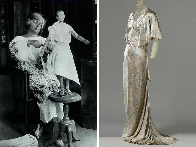 Madeleine Vionnet podczas projektowania i suknia Vionnet | burdastyle.com