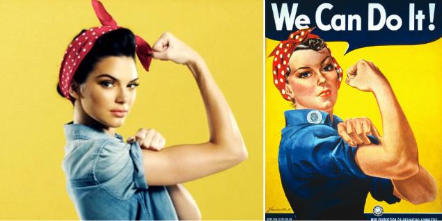 Kendall Jenner reaktywuje słynny gest Rosie the Riveter podczas najnowszej kampanii w Ameryce | pinterest.com