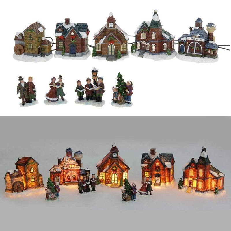 Bożonarodzeniowe, podświetlane miasteczko