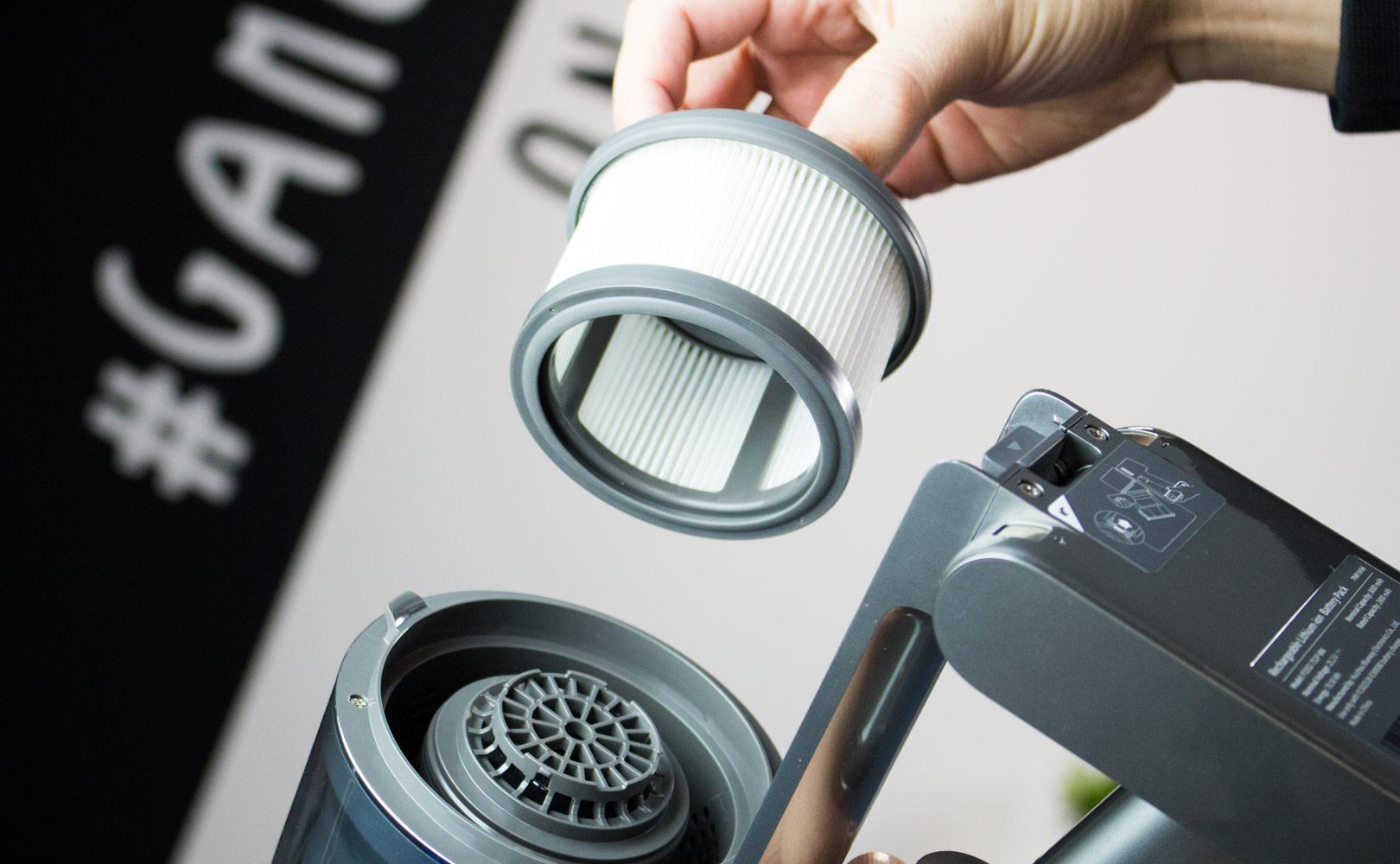 filtr HEPA w odkurzaczu The Dreame T20