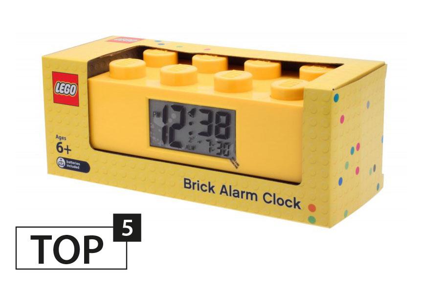 Budzik w kształcie powiększonego klocka LEGO