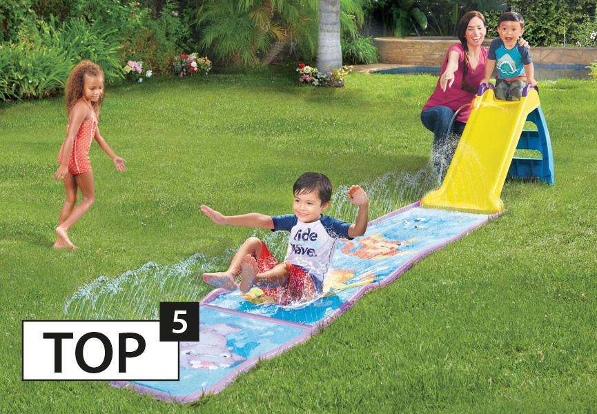 Zjeżdżalnia z matą wodna – Little Tikes Wet & Dry First Slide