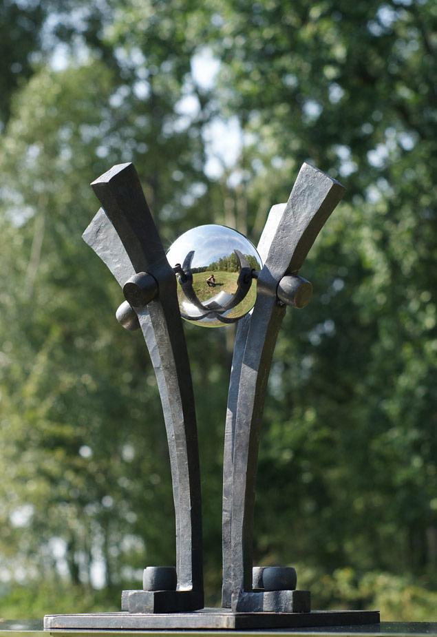 Rzeźba w Iwano-Frankowsku na Ukrainie.