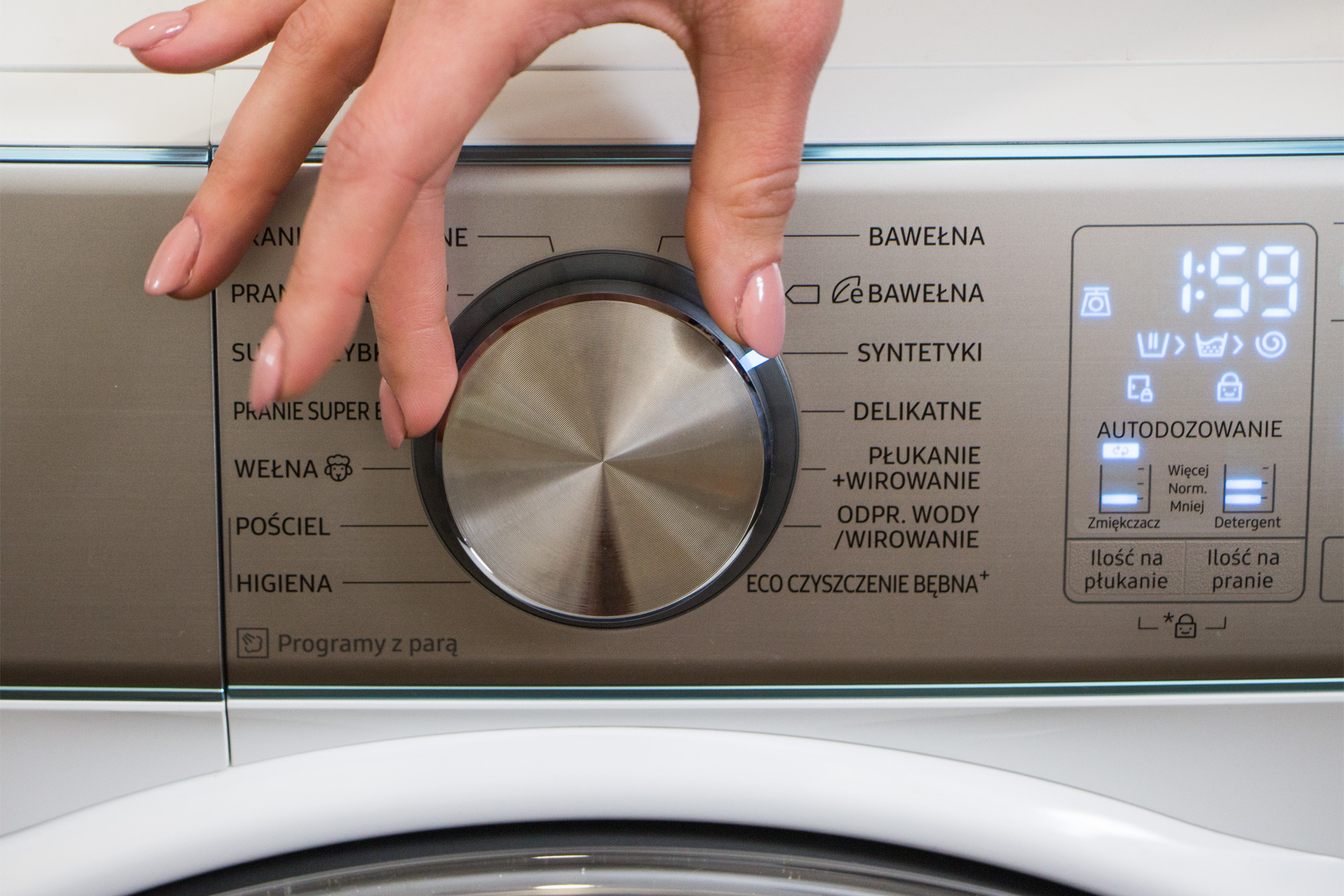 Pralka Samsung WW10M86INOA programy