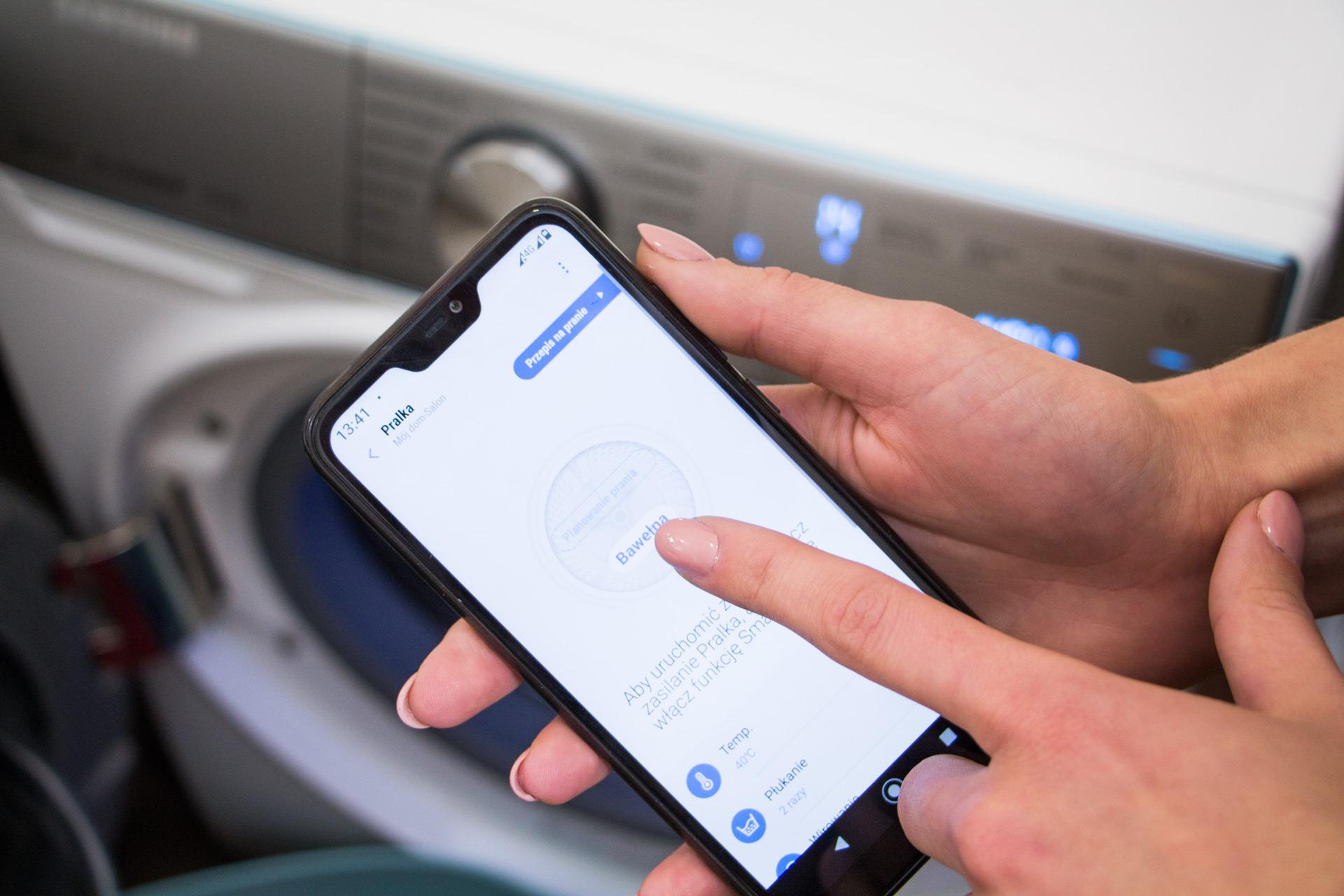 Pralka Samsung WW10M86INOA aplikacja