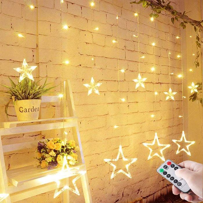 świąteczne lampki gwiazdki