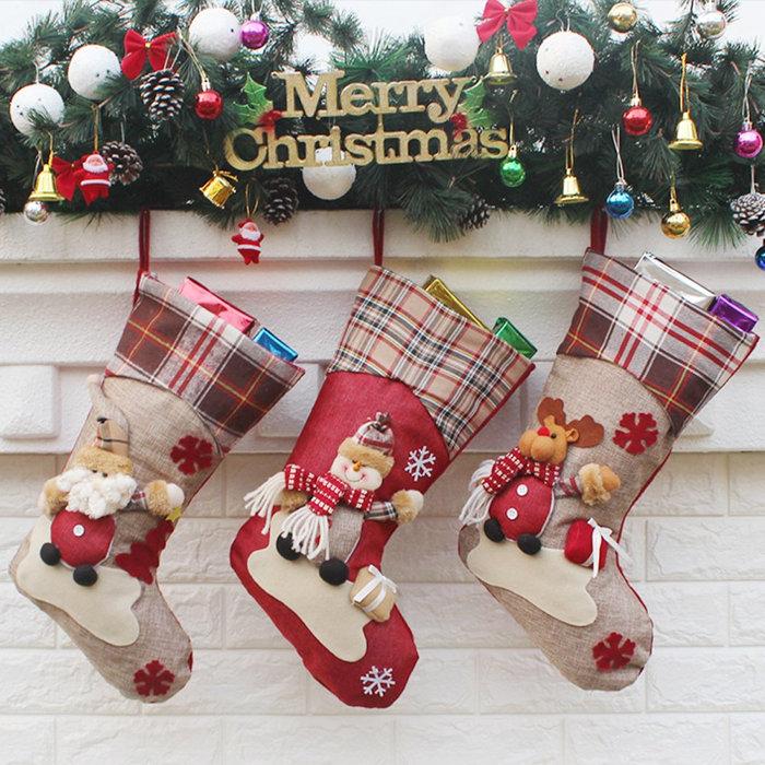 3 skarpety świąteczne na prezenty